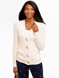 Talbots - Cable Toggle Cardigan
