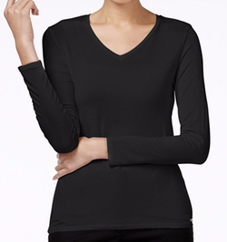 Calvin Klein - Long-Sleeve V-Neck T-Shirt