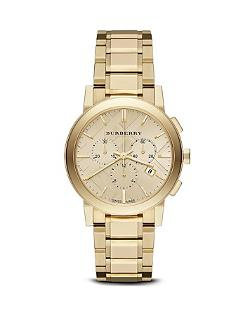 Burberry  - Gold-Tone Chronograph Bracelet Watch