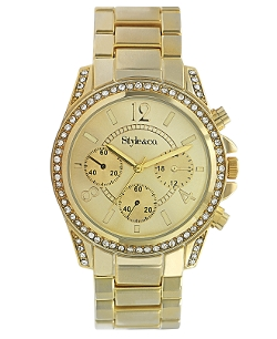 Style&co. - Gold-Tone Mixed Metal Bracelet Watch