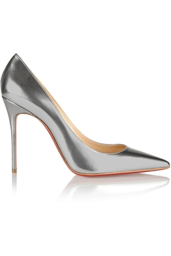 Christian Louboutin - Décolleté 100 Metallic Leather Pumps