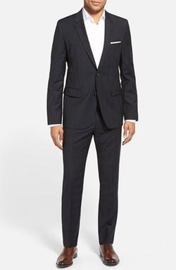Hugo - Plaid Stretch Wool Suit