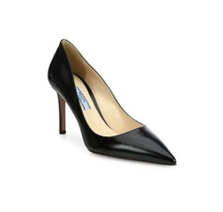 Prada - Saffiano Leather Point-Toe Pumps