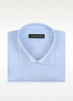 Forzieri - Light Blue Cotton Dress Shirt