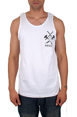 PRVLGD  - The Axes and Feathers Pocket Tank Top