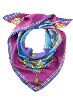 Elizabetta - Italian Silk Square Foulard Scarf
