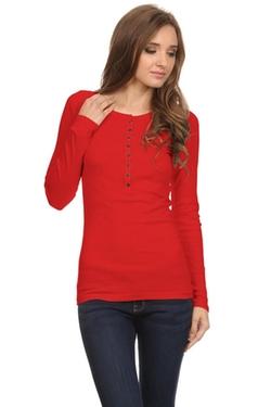 Simlu - Knit Henley Shirt