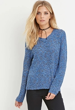 Forever 21 - Contemporary Metallic Pointelle Sweater