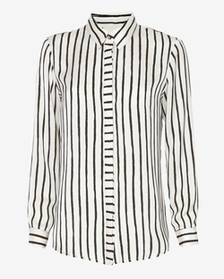 Mason by Michelle Mason - Mixed Stripe Blouse