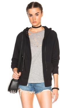 R13  - Pierced Zip Hoodie Sweatshirt