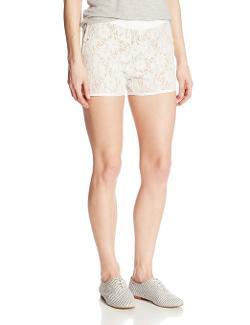 XOXO  - Juniors Lace Scalloped Short
