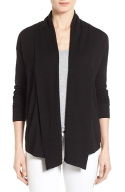 Chaus  - Ribbed Front Jersey Cardigan