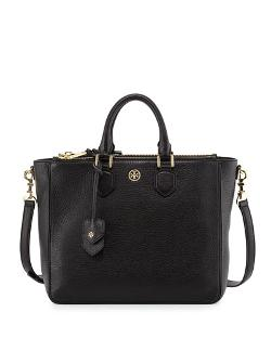 Tory Burch	 - Robinson Pebbled Square Tote Bag