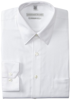 Geoffrey Beene - Regular Fit Sateen Solid Shirt