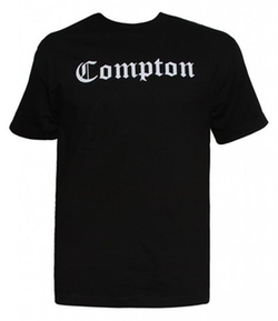 City Shirts - Black Short-Sleeve Compton Blackletter T-Shirt