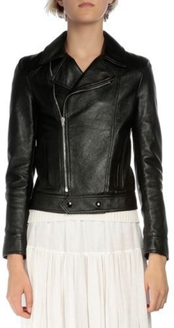 Saint Laurent - Long-Sleeve Leather Moto Jacket