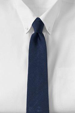 Lands End - Solid Silk Repp Necktie
