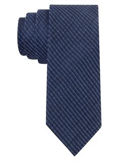 Calvin Klein - Silk-Blend Textured Stripe Tie
