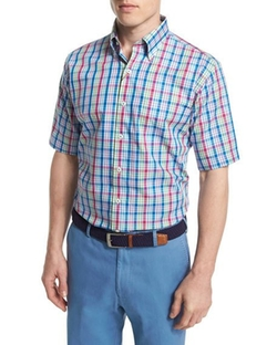 Peter Millar - Plaid Short-Sleeve Woven Shirt