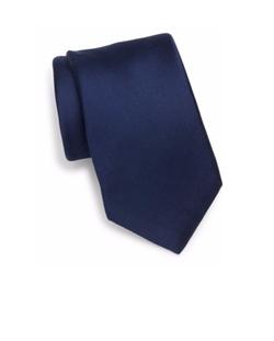 Saks Fifth Avenue Collection  - Solid Hue Silk Tie