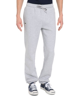 Lacoste - Heather Grey Fleece Pants