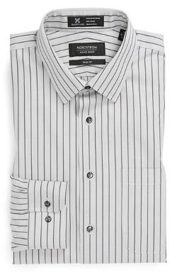 Nordstrom  - Smartcare Trim Fit Stripe Non-Iron Dress Shirt