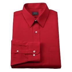 Arrow Classic - Fit Solid Poplin No-Iron Point-Collar Dress Shirt