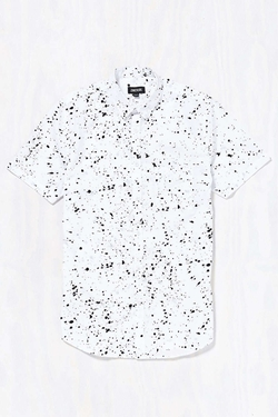 Zanerobe - Splatter Short-Sleeve Button-Down Shirt