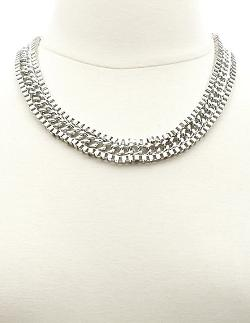 Charlotte Russe - Mixed Chain Choker Necklace