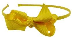 Funny Girl Designs - Ribbon Wrapped Grosgrain Bow Girls Headband