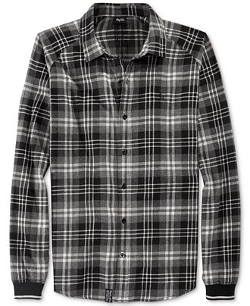 LRG  - Krule Striped-Cuff Plaid Shirt