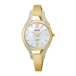 Seiko Modern Jewelry  - Womens Mother-of-Pearl Crystal-Accent Watch