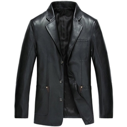 Partiss - Faux Leather Suit Blazer