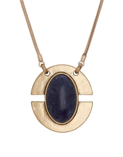 Lucky Brand  - Lapis Oval Pendant