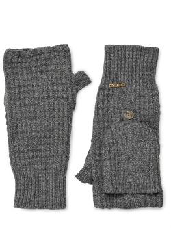 Bark - Wool Blend Fingerless Mittens