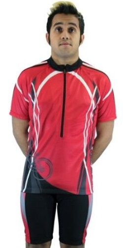 Maks - Sublimated Print Race Cut Short-Sleeve Biking Cycling Jersey