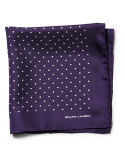 Ralph Lauren Black Label - Pin Dot Silk Pocket Square