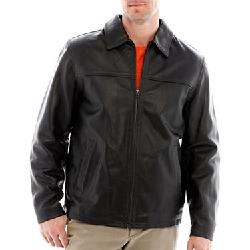 JCPenny - Excelled Rugged Leather Hipster Jacket