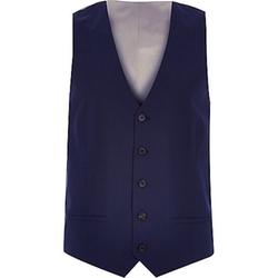 River Island - Navy Smart Slim Vest