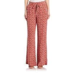 Joie - Pascha Floral Medallion Silk Pants