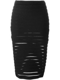 Mugler - Knit Pencil Skirt