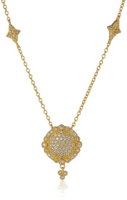 Freida Rothman - Pave Disc Drop Necklace