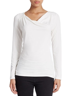 Lord & Taylor  - Draped Neck Blouse