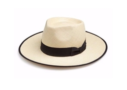My Bob  - Outback Two-Tonal Straw Fedora Hat