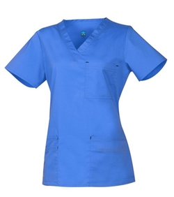 Maevn - Blossom 3 Pocket Fashion V-Neck Scrub Top
