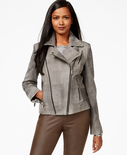 Michael Michael Kors - Distressed Leather Moto Jacket