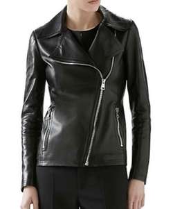 Gucci - Plonge Leather Moto Jacket