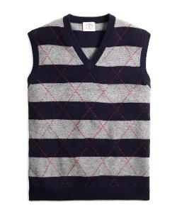 Lambwool  - Stripe and Diamond Vest