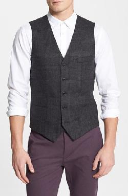 Topman  - Check Wool Blend Vest