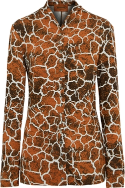 Missoni - Printed Stretch-Crepe Shirt